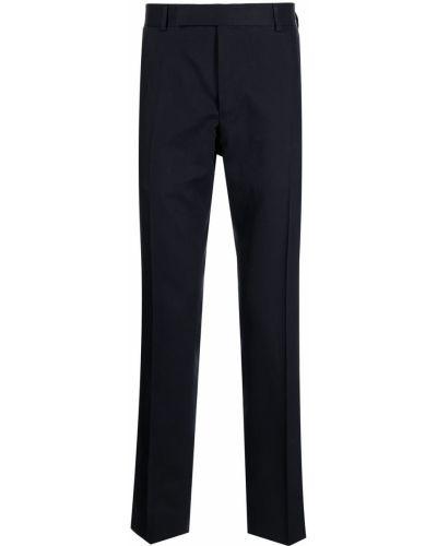 Niebieskie spodnie z paskiem Dunhill