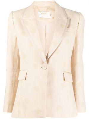 Однобортный приталенный классический пиджак на пуговицах Zimmermann
