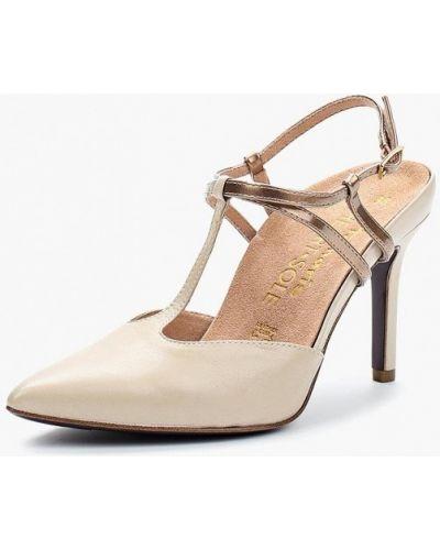 Туфли на каблуке кожаные с открытой пяткой Heart & Sole By Tamaris