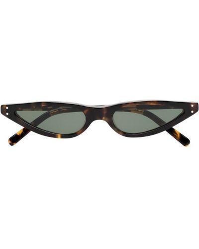 Прямые муслиновые солнцезащитные очки хаки George Keburia