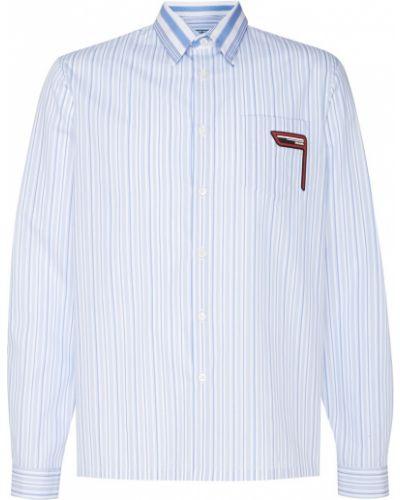 Рубашка в полоску с карманами Prada