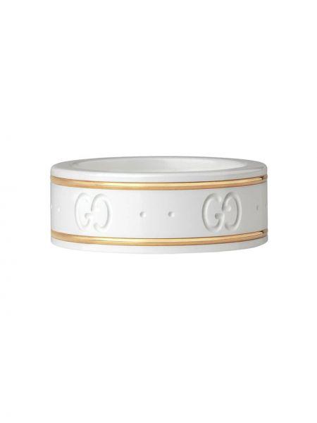 Żółty złoty pierścionek Gucci