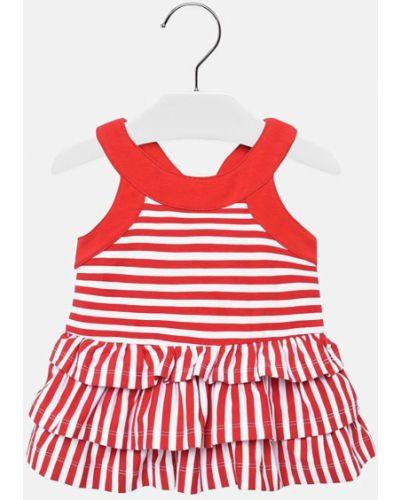 Платье красный расклешенное Mayoral