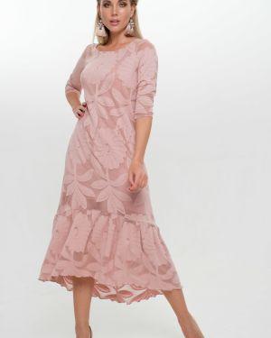 Вечернее платье миди на молнии Leleya