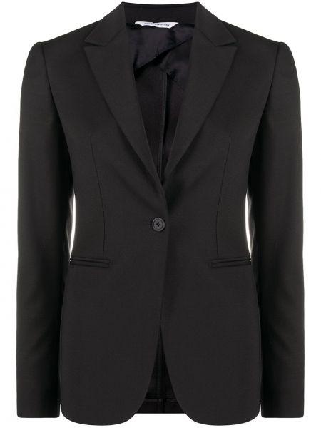 Однобортный черный классический пиджак с карманами Tonello