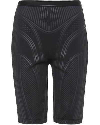 Черные спортивные шорты Mugler