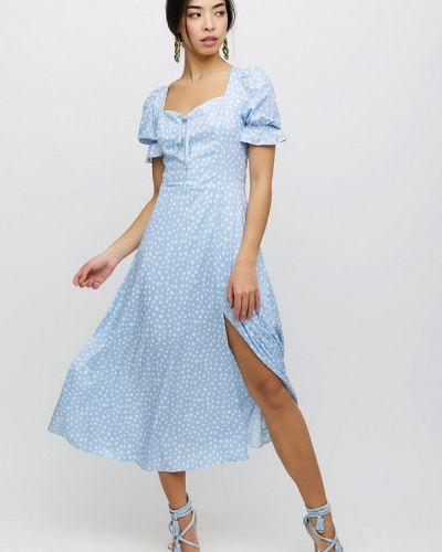 Голубое платье а-силуэта Cardo