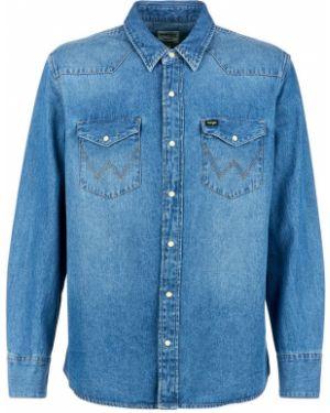 Джинсовая рубашка на кнопках Wrangler