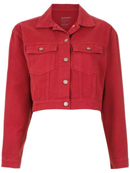 Красная джинсовая куртка с воротником с карманами Osklen