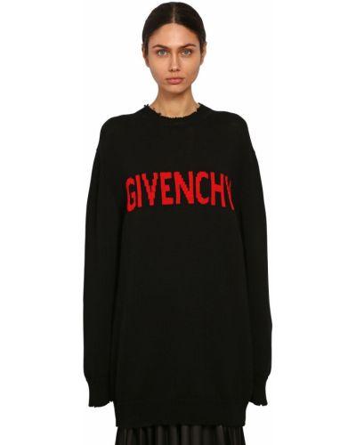 Sweter przeoczenie z kołnierzem Givenchy