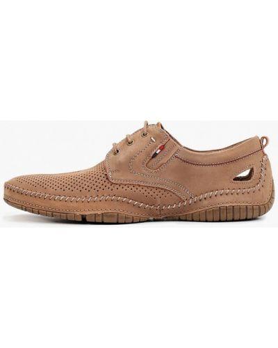 Коричневые туфли из нубука O-live Naturalle