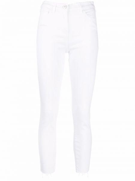 Укороченные белые хлопковые зауженные джинсы 3x1