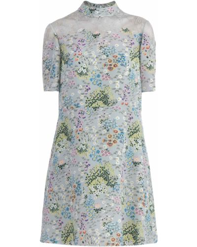 Платье с цветочным принтом на пуговицах Valentino