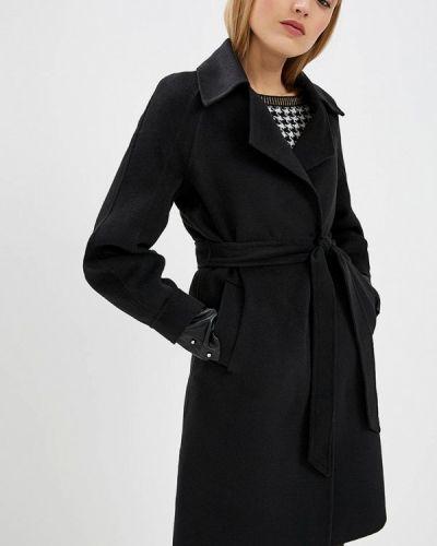 Черное пальто с капюшоном Blugirl Folies