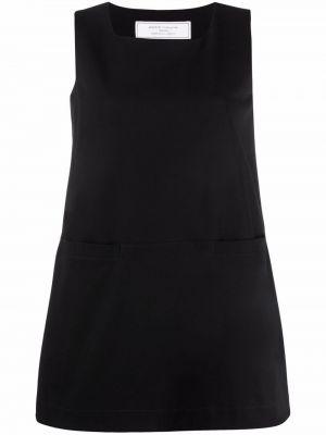 Хлопковое платье мини - черное SociÉtÉ Anonyme