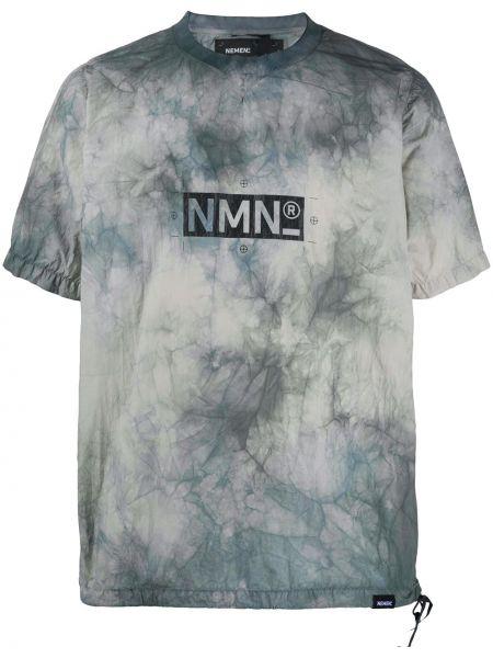 Нейлоновая с рукавами серая рубашка с короткими рукавами Nemen