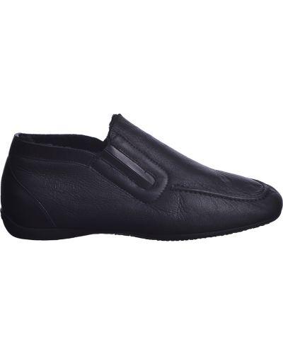 Кожаные ботинки осенние черные Moreschi