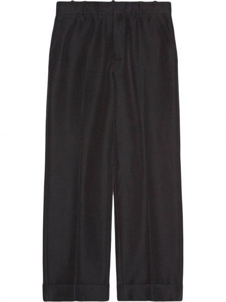 Bawełna spodni przycięte spodnie z kieszeniami z wiskozy Gucci