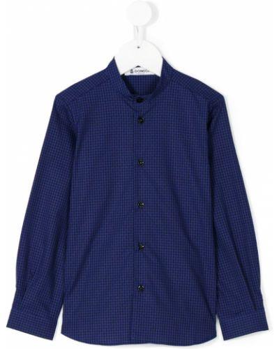 Рубашка в клетку синий Dondup Kids
