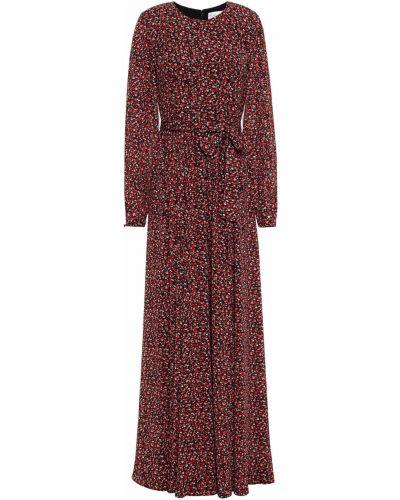 Платье макси с принтом из крепа на крючках Mikael Aghal