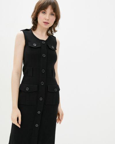 Черное весеннее платье Dasti