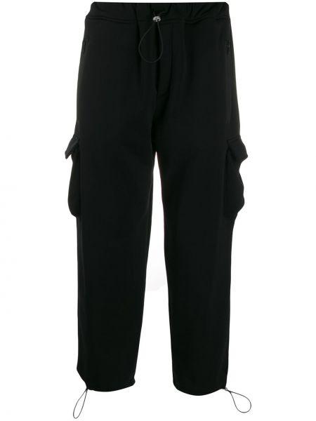 Czarne spodnie ciążowe z nylonu Lc23
