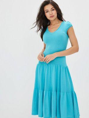 Платье бирюзовый вязаное Marytes