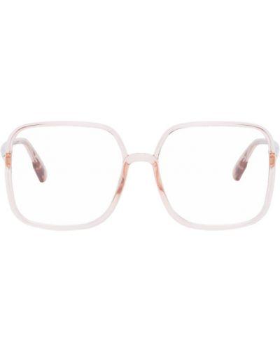 Розовые очки для зрения квадратные прозрачные Dior