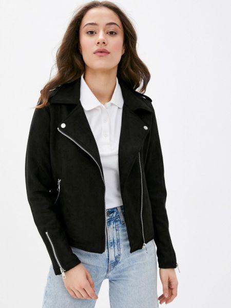 Кожаная куртка черная весенняя Defacto