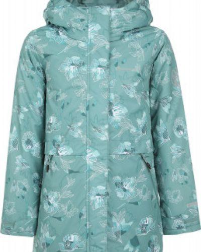 Теплая приталенная зеленая куртка на молнии Outventure