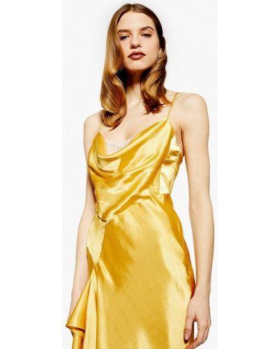 Вечернее платье весеннее золотой Topshop
