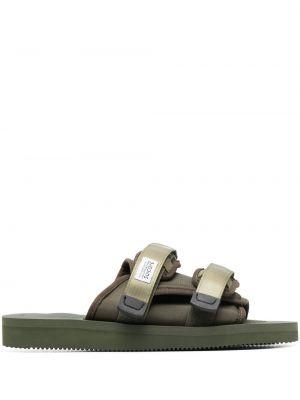 Zielone sandały z klamrą Suicoke
