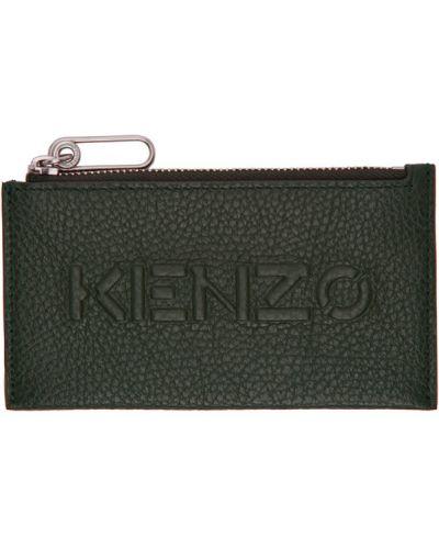 Skórzany czarny etui na klucze z gniazdem wytłoczony Kenzo