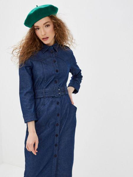 Джинсовое платье синее весеннее United Colors Of Benetton