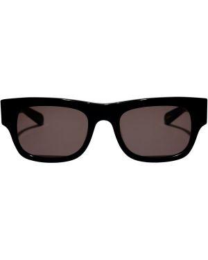 Czarne okulary srebrne Flatlist Eyewear