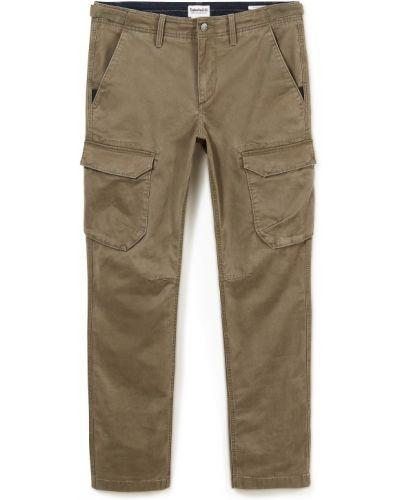 Хлопковые зеленые брюки карго с карманами Timberland
