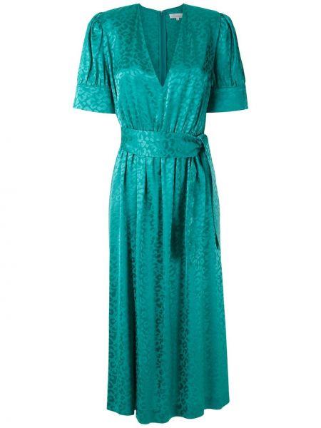 Платье на пуговицах с V-образным вырезом НК