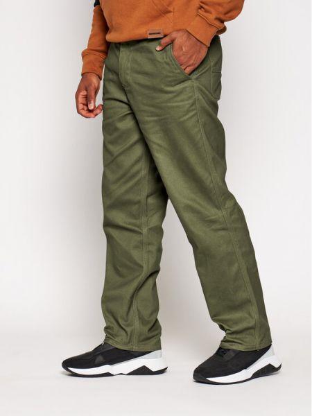 Zielone spodnie oversize Huf