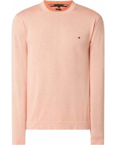 Różowy sweter bawełniany Tommy Hilfiger