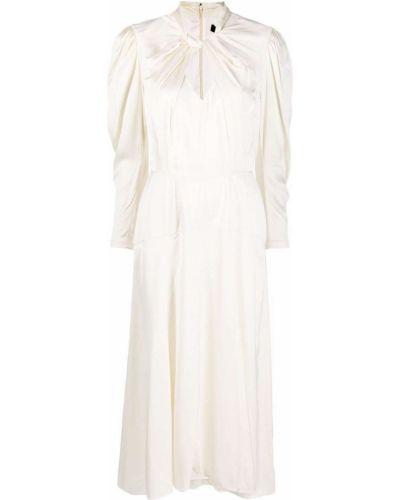 Платье миди с длинными рукавами - белое Isabel Marant