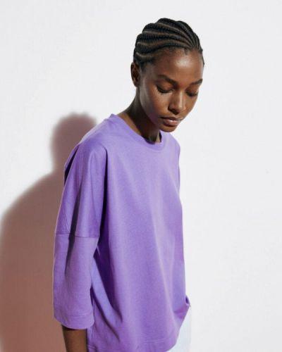 Фиолетовая зимняя футболка Massimo Dutti