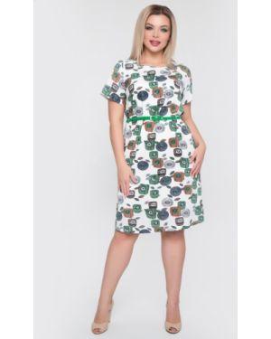 Платье мини с цветочным принтом с разрезами по бокам тм леди агата