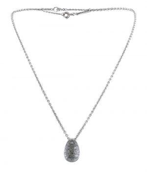 Ожерелье на змейке - белое Cartier