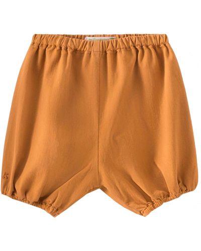 Оранжевые хлопковые шорты Bonpoint