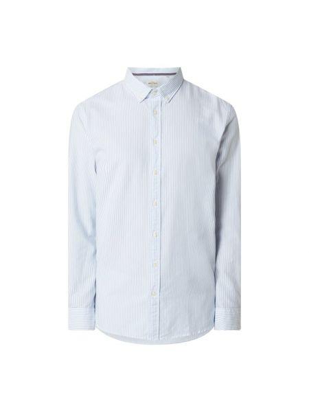 Z paskiem bawełna bawełna z rękawami koszula oxford Montego
