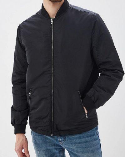 Утепленная куртка демисезонная черная Burton Menswear London