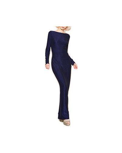Вечернее платье синее ли-лу