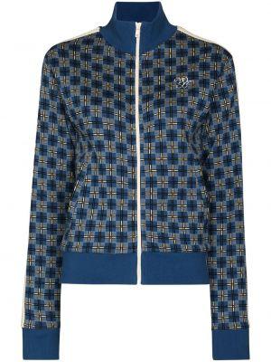 Синяя куртка с логотипом Wales Bonner