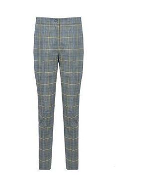 Шерстяные серые брюки узкого кроя Luisa Spagnoli