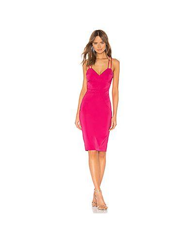 Платье миди розовое на молнии By The Way.
